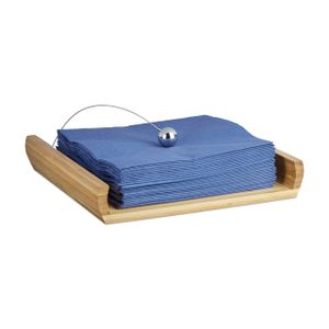 relaxdays Serviettenhalter Bambus mit Beschwerer
