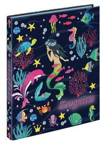 "Zeugnismappe mit 10 Hüllen/ Zeugnisringbuch / A4 / ""Mermaid"""