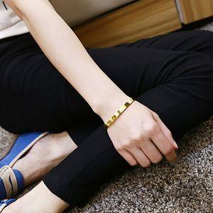 Edelstahl Armband Manschette Armreif Runde Armband für Männer 8mm Gold Golden 62x54x8mm