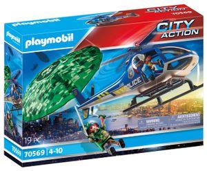 PLAYMOBIL City Action 70569 Polizei-Hubschrauber: Fallschirm-Verfolgung
