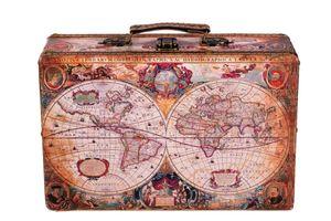 Truhe Kiste KD1288 Kofferoptik Kofferset Holztruhe mit Kunstleder Schatzkiste, Größe:Größe M (26cm B x 15cm T x 8cm H )