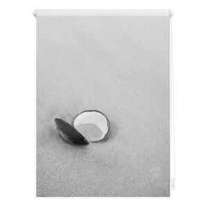 Rollo Klemmfix, ohne Bohren, blickdicht, Muschel  - Schwarz 60 x 150 cm (B x L)
