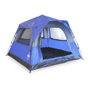 Lumaland Leichtes Outdoor Pop Up Comfort Zelt Wurfzelt für 3 Personen Zelt Camping Festival Sekundenzelt 210x210x140cm Tragetasche Blau