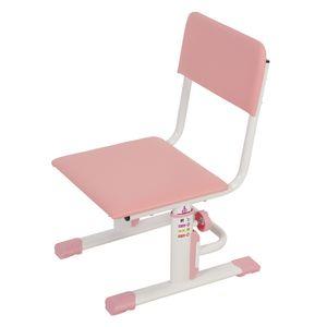 Höhenverstellbarer Kinderschreibtischstuhl weiß-rosa, 1557.69