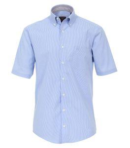 Casa Moda - Casual Fit - Herren Freizeit 1/2-Arm-Hemd in verschiedenen Farben mit Button - Down - Kragen (983078800A), Größe:XL, Farbe:Blau (100)