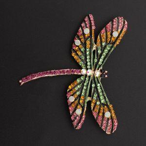 Vintage Spider Libelle Tier Broschen Lady Crystal Brosche Pin Dragonfly1 Größe Libelle1