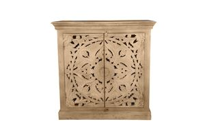 SIT Möbel Kommode | 2 Türen | Mango-Holz natur | B 90 x T 45 x H 90 cm | 13709-01 | Serie LAKADEE