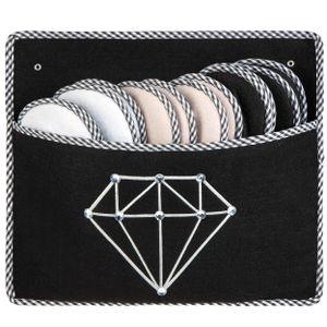 ONVAYA® ABS Gästepantoffel | Diamant | 6er Set | Antirutsch Sohle | Hausschuhe | Filzpantoffel | Gr. 36-45 Gästehausschuhe