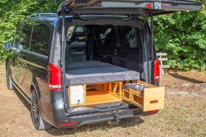 Campingbox Campingküche Bettfunktion Heckküche Schlafsystem VW Van Kombi Typ 119