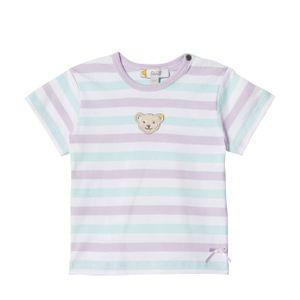 STEIFF® Baby Mädchen T-Shirt Ringel , Größe:74, Präzise Farbe:Weiß