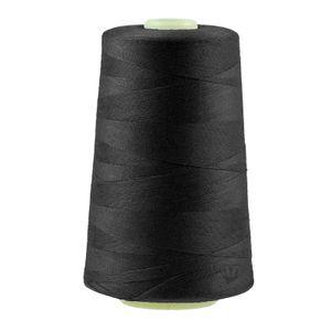 4572m Qualitäts Overlock-Garn  Overlock-Nähgarn Polyestergarn, wähle aus 400 Farben, Farbe:A807 schwarz