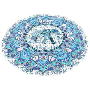 Supgaliy 1pcs Mandala Tapisserie Wandteppich Wandbehang Decke Sommer Strand gewickelt Rock Tischdecken Tapisserie Wei?