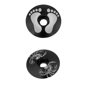 2x Universal MTB Mountainbike Fahrradschaft Headset Top Cap Cover Teile