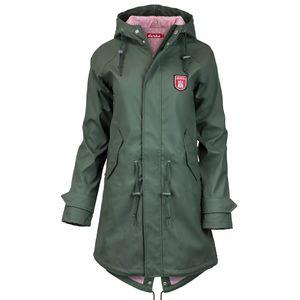 Derbe Damen Regenmantel Anker, Farbe:khaki/pink, Größe:36