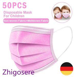 50x Kinder Einweg Atemschutzmaske Atem Mundschutz 3-lagig Schutzmaske Gesichtsmaske zhigosere