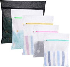 Wäschesäcke Wäschenetze, 5er Set Dessousbeutel für Waschmaschine Wäschebeutel für Unterwäsche Feines und Socken