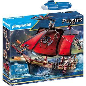 PLAYMOBIL 70411 5159 Pirates 2er Set Kampfschiff +