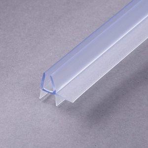 100cm Sealis Ersatzdichtung - Dichtkeder für 4mm/ 5mm Glasdicke Wasserabweiser Duschdichtung Schwallschutz Duschkabine, transparent