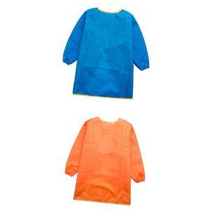 2x Kinder Malkittel - Kinder Bastelkittel - Kinder Schürze - Malschürze mit langarm
