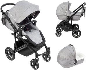 Kombikinderwagen 2in1 Gondel und Buggy - Kinderwagen - Schaumstoffräder inkl. Tasche und Regenschutz