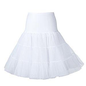 "50er Jahre Petticoat Unterrock Retro Vintage Swing 1950's Rockabilly 26"" Boolavard (White S/M)"