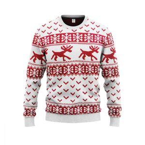 JAP Weihnachtspullover - Hipster Rentier - Perfekte Passform ohne Jucken - 505-M