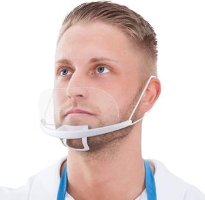 Mund Nasen Visier 10x Face Shield klarsicht Gesichtsmaske transparent Größe Abnehmbar