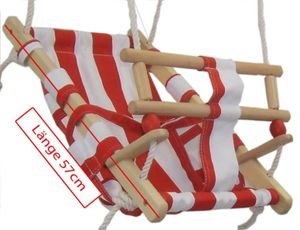 Babyschaukel Babyliegeschaukel Schaukelsitz Babysitz Babyhängematte zum Aufhängen,    Farbe:rot / weiss
