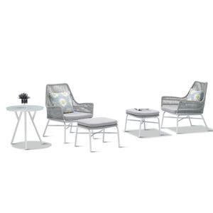 Gartenmöbel White 5 teilig Lounge-Sitzgruppe