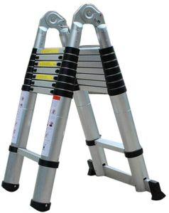 5M Leiter Anlegeleiter Aluleiter Leiter Teleskopleiter Klappleiter Stehleiter Mehrzweckleiter Hochwertig Aluminium 150 kg Belastbarkeit