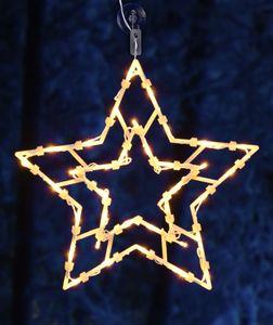 LED Weihnachts Fenster Silhouette XXL - Motiv: Stern