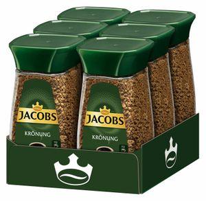 JACOBS Krönung löslicher Kaffee 6 x 200 g Gläser Instantkaffee