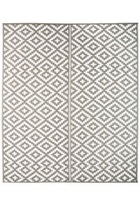 Outdoor Kunststoffteppich Austin grau 240 x 300 cm Terrassenteppich