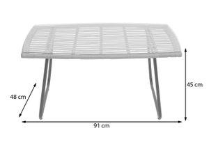 Polyrattan Garnitur HWC-G17a, Gartengarnitur Sofa Set Sitzgruppe  naturfarben, Polster anthrazit mit Dekokissen