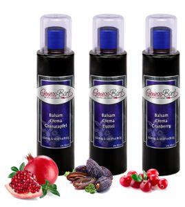 Crema Trio Dattel / Cranberry / Granatapfel 3x 0,26L 3% Säure Balsam Essig Creme