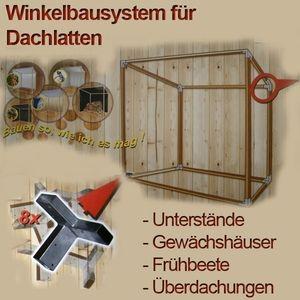 Kaminholzregal Geräteschuppen Gewächshaus Winkelset