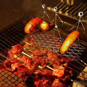 Grillspieße Grillgabeln, BBQ Grillgabel Kreative Figuren Metall Würstche Gabel, Lustige Handwerk-Grillgabeln für Lagerfeuer-Grill(3 Person)