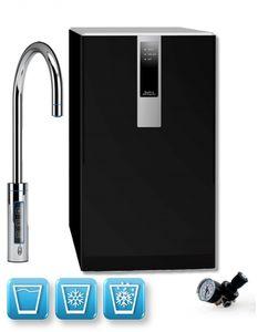 Einbau-Tafelwasseranlage BLACK & WHITE DIAMOND (Option CO2 Eigentumsflasche: ohne CO2 Flasche / Armatur: C-Auslauf / Farbe: schwarz)