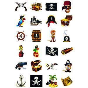 Oblique Unique Temporäre Klebetattoos Kinder Tattoo Set - Piraten Motive