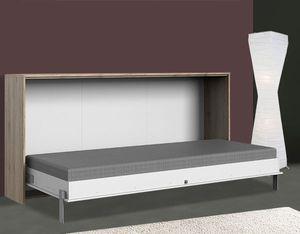 Schrankbett Funktionsbett Bett Juist 90x200cm weiß sanremo eiche Modern