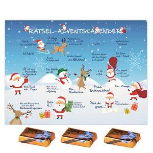 Tisch-Adventskalender Rätsel Kalender Erwachsene Kinder Schokolade Lindt