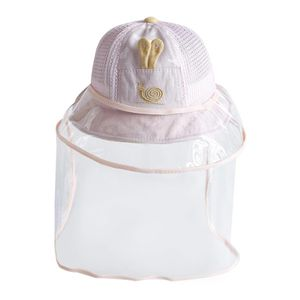 Kinder Kleinkind Eimer Hut W/Gesicht Schild Anti Tröpfchen Schutz Hut Sicherhei Farbe Rosa