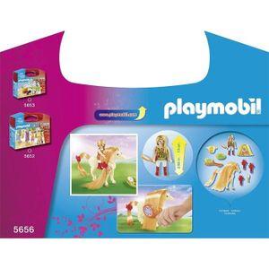 PLAYMOBIL 5656 Großer Spielekoffer mit bezauberndem Pferd + Prinzessinfigur