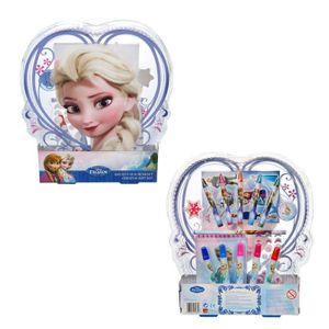 Disney Frozen Elsa Eiskönigin Malkasten Filz Stifte Wachsmalstifte Aufkleber Neu
