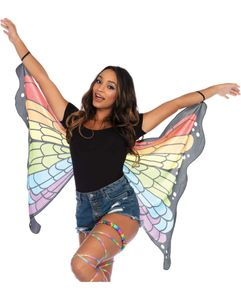 Regenbogen Schmetterlingsflügel als Kostümzubehör