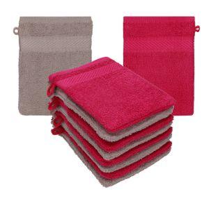 Betz Waschhandschuhe Waschlappen PALERMO 100% Baumwolle Größe 16x21 cm, Farbe cranberry-stone