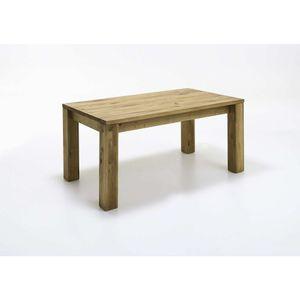 Esstisch mit Gestellauszug 90x180-250 cm Wildeiche geölt
