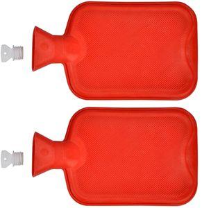 2er Set Wärmflasche aus Gummi 2 Liter | Wärmeflasche Wärmekissen  | Wärme Flasche Bettflasche