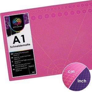 OfficeTree® Schneidematte pink/lila - 90x60 cm (A1)