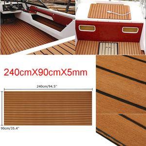 Teak EVA Schaum Boot Yacht Bodenbelag 240x900CM Matte Deck Teppich Selbstklebend